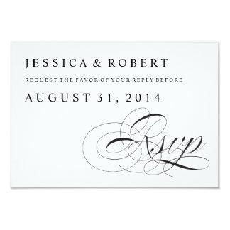 Schwarze u. weiße traditionelle Hochzeit UAWG 8,9 X 12,7 Cm Einladungskarte