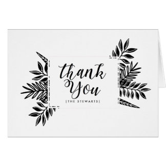 Schwarze u. weiße Tropen | danken Ihnen zu Grußkarte