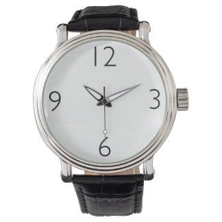 Schwarze Uhr mit numerierter Skala für Frauen