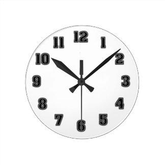 Schwarze Uhr-Schablone Runde Wanduhr
