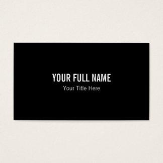 Schwarze unbedeutende saubere einfache einfache visitenkarte