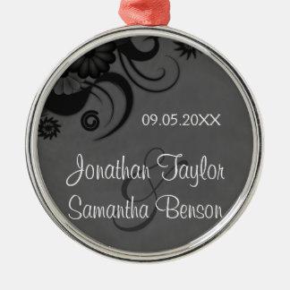 Schwarze und graue silbernes ornament