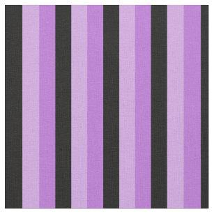 Schwarze und lila Streifen Stoff