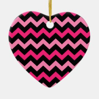 Schwarze und rosa Streifen Keramik Ornament
