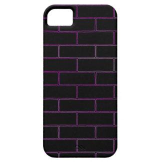 Schwarze und rosa Ziegelsteine iPhone 5 Etui