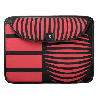 Schwarze und rote mystische Geometrie Sleeve Für MacBook Pro