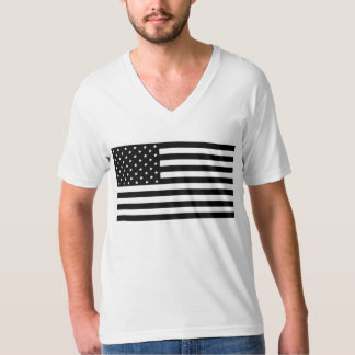 Schwarze USA-Flagge Hemden