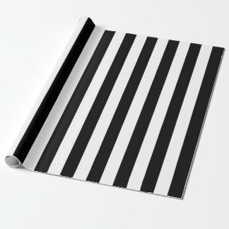 Schwarze vertikale Streifen Geschenkpapier