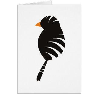 Schwarze Vogel-Gruß-Karte Grußkarte
