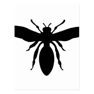 Schwarze Wespe-Silhouette Postkarte