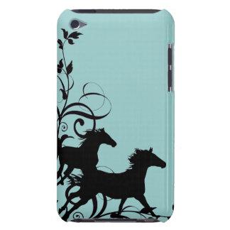 Schwarze wilde Pferde iPod Case-Mate Hülle