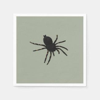 Schwarze Witwen-Spinne Serviette