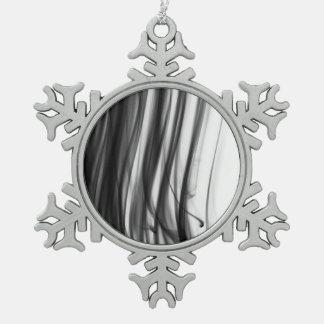 Schwarze Zinn-Schneeflocke-Verzierung des Schneeflocken Zinn-Ornament