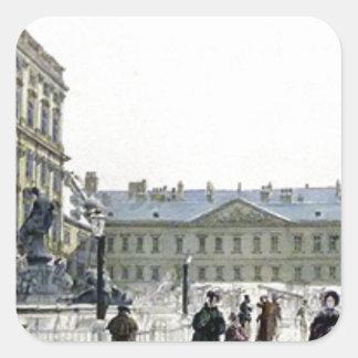 Schwarzenberg Palast durch Rudolf von Alt Quadratischer Aufkleber
