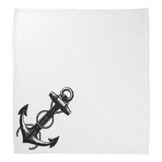 Schwarzer Anker und Seil Kopftuch