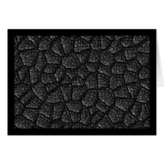 Schwarzer Asphalt Grußkarte