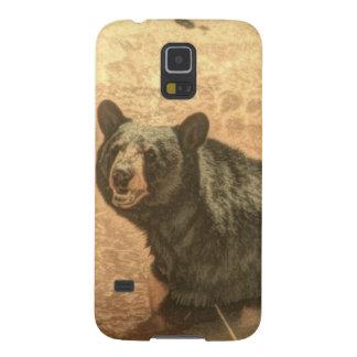 schwarzer Bär der Outdoorsmanwildnisflußwild Galaxy S5 Cover