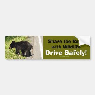 Schwarzer Bärenjungs-Tier-Anhänger-Autoaufkleber Autoaufkleber