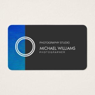Schwarzer Blauer Professioneller Visitenkarte
