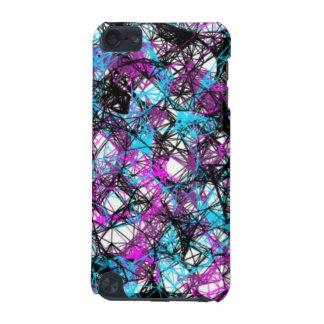 Schwarzer blauer u lila Spritzeripod-Touch-Kaste