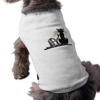 SCHWARZER CAT u. HUT durch SHARON SHARPE T-Shirt