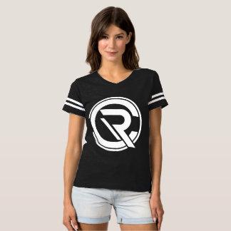 Schwarzer der Fußball-T - Shirt
