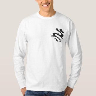 Schwarzer Drache gesticktes Shirt
