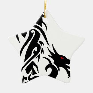 Schwarzer Drache-Tätowierungs-Entwurf Keramik Ornament