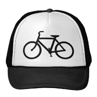 Schwarzer Fahrrad-Hut Trucker Mützen