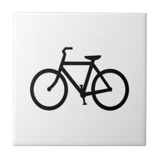 Schwarzer Fahrrad-Weg Keramikfliese