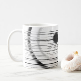schwarzer Fleck und Linien Kaffeetasse