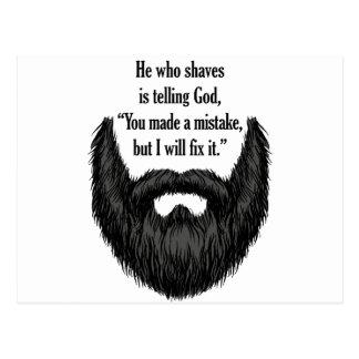 Schwarzer flockiger Bart Postkarte