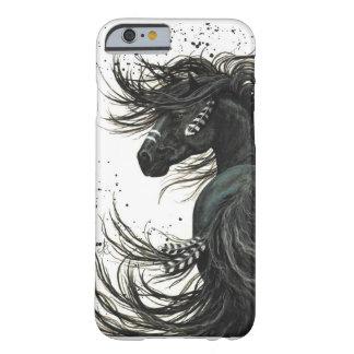 Schwarzer friesischer PferdiPhone 6 Kasten Barely There iPhone 6 Hülle