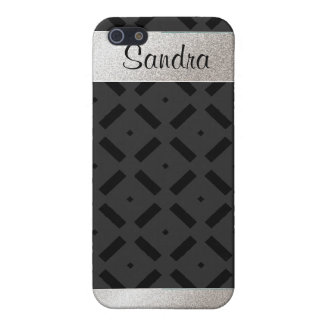 Schwarzer geometrischer iPhone Kasten Schutzhülle Fürs iPhone 5