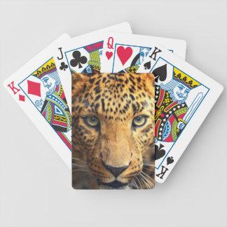 Schwarzer gepunkteter Leopard Browns Bicycle Spielkarten