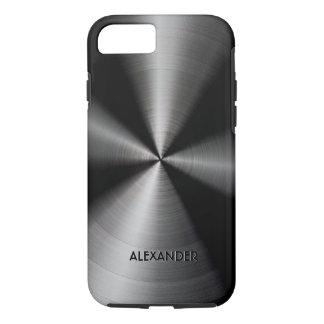 Schwarzer glänzender metallischer Entwurf iPhone 8/7 Hülle