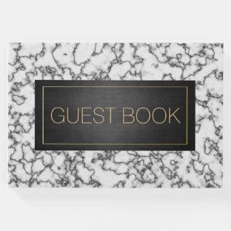 Schwarzer Goldmarmor-Begräbnis- Gast-Buch Gästebuch