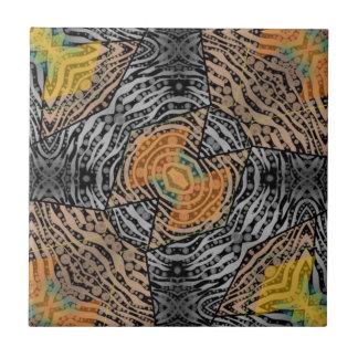 Schwarzer grauer Zebra abstrakt Keramikfliese