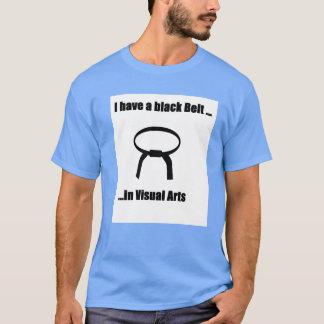 Schwarzer Gurt in den visuellen Künsten T-Shirt