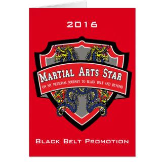 Schwarzer Gurt-Werbeaktion-Einladung Grußkarte