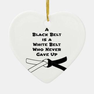 Schwarzer Gürtel Keramik Herz-Ornament