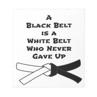 Schwarzer Gürtel Notizblock
