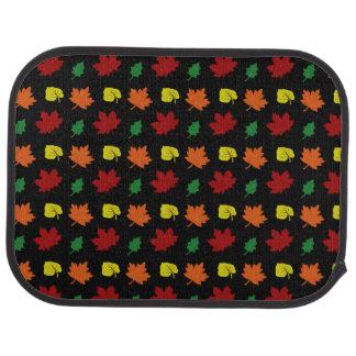 Schwarzer Herbstlaub Autofußmatte