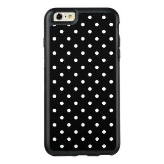 Schwarzer Hintergrund der kleinen weißen Tupfen OtterBox iPhone 6/6s Plus Hülle