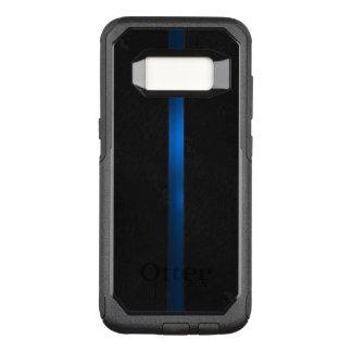 Schwarzer hölzerner Auftritt verdünnen Blue Line OtterBox Commuter Samsung Galaxy S8 Hülle