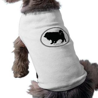 Schwarzer Hundehündchen T Shirt