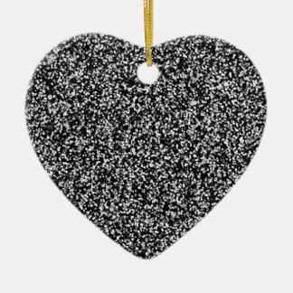 Schwarzer Imitat-Glitter Keramik Ornament