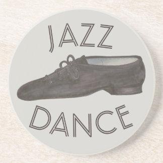 Schwarzer Jazz-Tanz-Schuh-Lehrer-Choreograf Sandstein Untersetzer