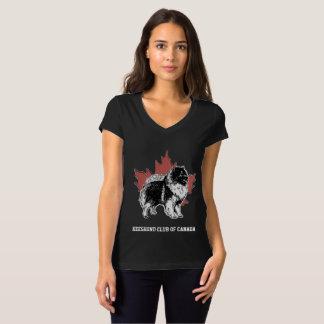 Schwarzer Keeshond-Verein von Kanada-Damen V - T-Shirt