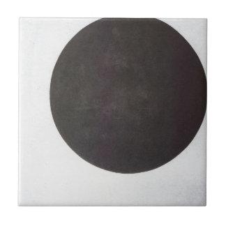 Schwarzer Kreis durch Kazimir Malevich Fliese